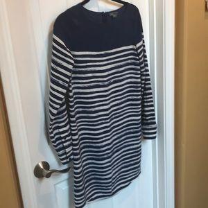 Vince silk stripe dress